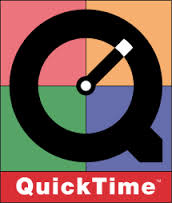 What the Quicktime logo looked like in 1991